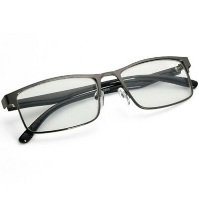 Gray Frame Black Temple Myopia Glasses Metal Nearsighted Minus Distance Glasses