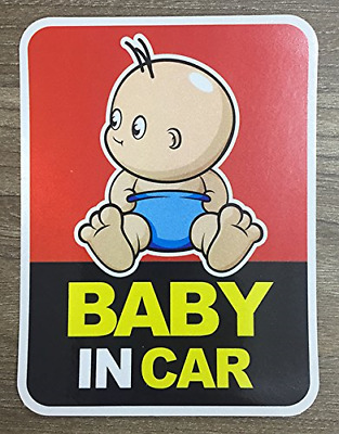 Brightt Set of x2 Baby On Board Safety Stickers for All Cars Trucks SUV Work for