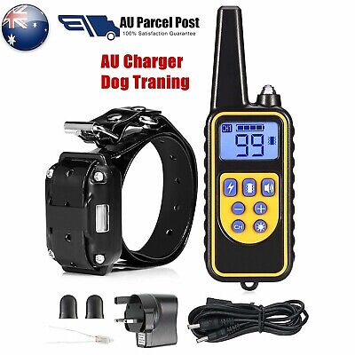 Electric LCD Dog Training Anti-Bark Waterproof Pets Collar Rechargeable Max 800M