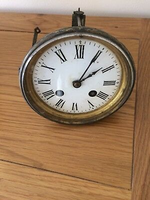 Antique H P & CO 3902 Clock Parts For Spares With enamel face