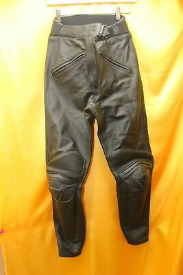 Dainese Black Leather Motorcycle Trousers Size 44     ##ath C13 Jt