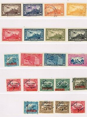 Nicaragua, selection of early airmail stamps, mint and used, good lot.