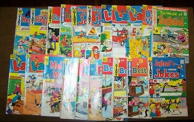 Lot of 21 ARCHIE COMICS TITLES Bronze Age Early 1970s MID GRADE Archie Titles