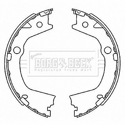 Brake Shoes BBS6520 Borg & Beck Set 4833A34000 Genuine Top Quality Replacement