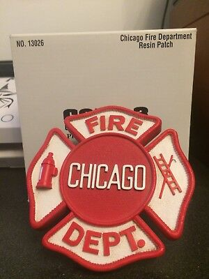 CODE 3 CHICAGO FIRE DEPARTMENT DEPT FIREMAN RESIN PATCH Firefighter plaque badge