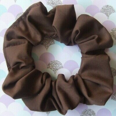 Brown Scrunchie Hair Elastic Band Bobble Ladies Girls