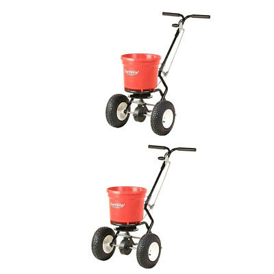 Earthway 50 LB Commercial Broadcast Walk Behind Garden Seed Spreader (2 Pack)