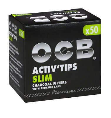 OCB Activ Tips Slim Aktivkohle-Filter 7mm 50- 500 Stck