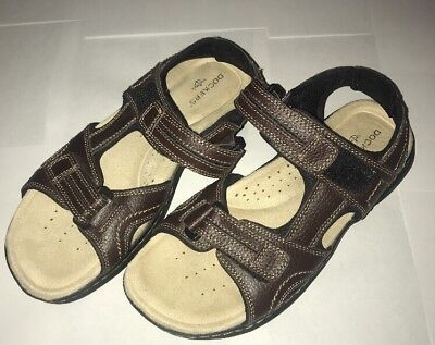 16db9ad3f93 DOCKERS Men s Sz 8 Medium Brown Leather Adjustable Straps Sport Sandals🔥🔥