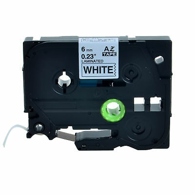 1PK Black on White TZ211 TZe211 Label Tape For Brother P-touch PT-520 6mm 0.24''