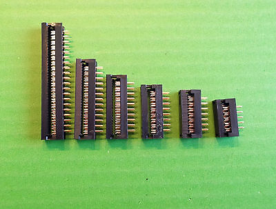 IDC 16 Way Transition Ribbon 16W DIL x 4 lots of 16 W 2 Row  2.54mm Pitch 1 Amp