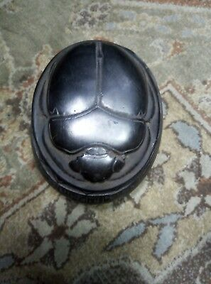 ANCIENT EGYPTIAN ANTIQUE EGYPT Scarab Box Beetle Scarabs Carved Stone 600 Bc