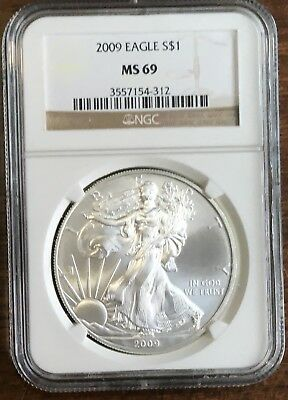 2009 Silver American Eagle Ngc Ms69