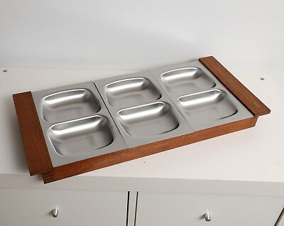 Old Hall - Robert Welch - Large six section Hors d'Oeuvres tray. Vintage