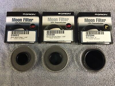"""Orion Moon Filter Set, two 1.25"""" and one 2"""""""