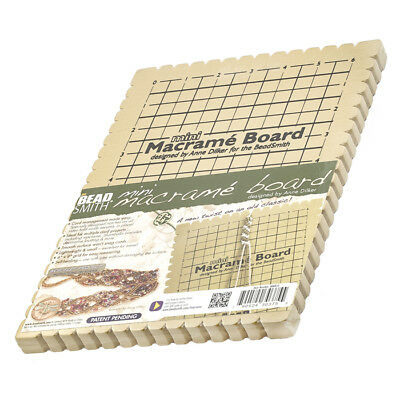 "Beadsmith Mini Macrame Board With Instructions 6""x9"" size grid (G14)"