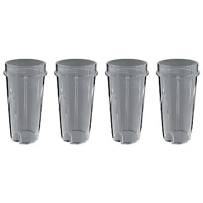 Ninja 16 Ounce Nutri Ninja System Pulse Blender Replacement Cup w/o Lid (4 Pack)