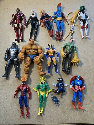 Marvel Universe 3.75 Action Figures Lot Of 13 Wolverine Spider-Man Thing MORE