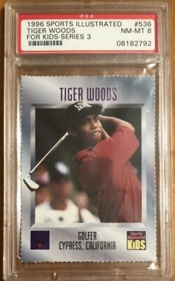 1996 Sports Illustrated Si For Kids #536 Tiger Woods Psa 8 Rookie Card Psa 9?