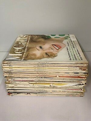 Lot of 29 Vintage 1958 59 60 61's McCall's Magazine Fashion Style Hair Ads