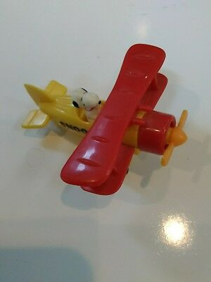 Vintage 1966 Aviva Metal and Plastic Snoopy Plane United Feature Syndicate C26