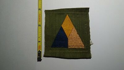 Extremely Rare WWI Tank Corps (Blue on Left)  Liberty Loan Style Patch. RARE!