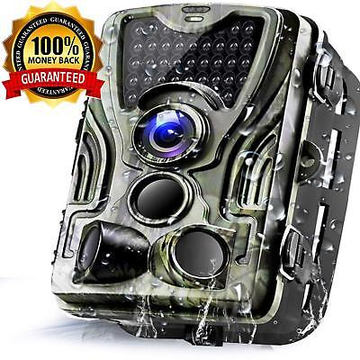 1080p 16MP Hunting Trail Wildlife scouting Game Camera Night Vision 0.3s Trigger