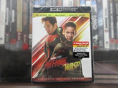 BRAND NEW ANT-MAN AND THE WASP (4K Ultra HD + Blu Ray + Digital)