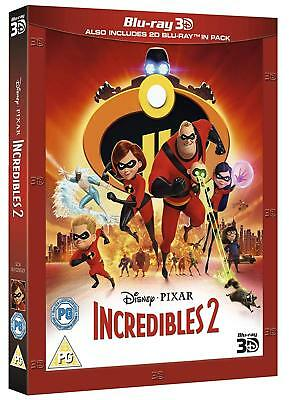 Incredibles 2 (3D + 2D Blu-ray, 2 Discs, Disney, Region Free) *NEW/SEALED*