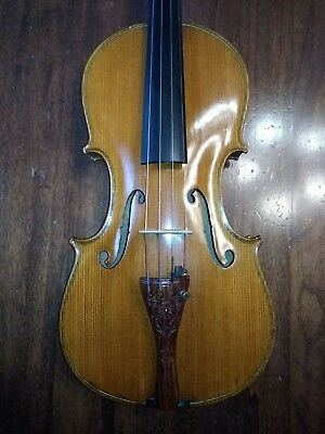 "Old violin with label "" Spataffi Guerriero riparò a Gubbio 1970"""
