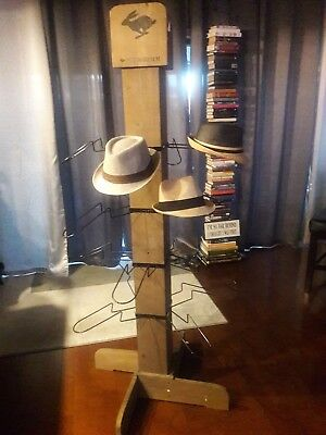 f4b557aa3e1 Peter Grimm Tier Baseball Fedora Cap Hat Rack Floor Stand Wood Cap Tower  Display