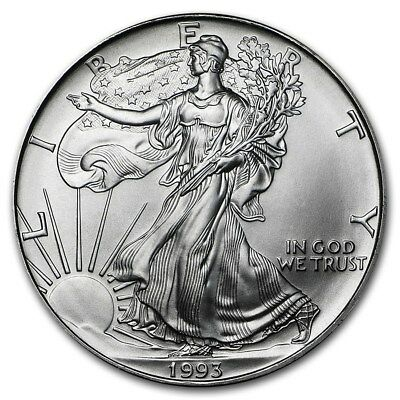 (1) 1993 American Silver Eagle United States Mint Brilliant Uncirculated Coin!