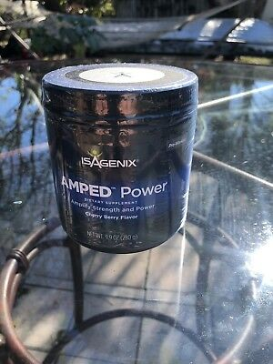 NEW SEALED ISAGENIX AMPED Power: Preworkout in Cherry Berry