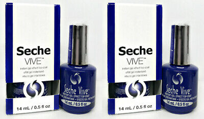 2 x Seche VIVE - Instant Gel Effect Nail Top Coat 0.5oz/14ml