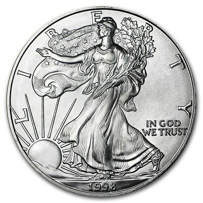 (1) 1998 American Silver Eagle United States Mint Brilliant Uncirculated Coin!