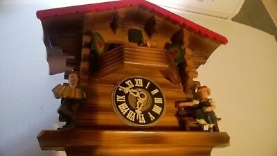 Vintage German Chalet Cuckoo Clock-AS-IS, Condition Unknown, Slold AS SHOWN