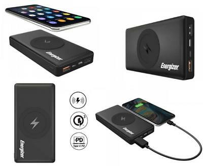 Energizer 10000mAh Wireless Portable Qi Charger Power Bank Quick Charge 3.0