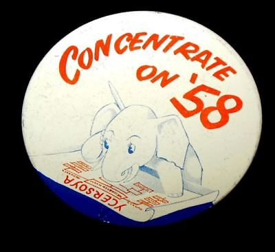 """CONCENTRATE ON '58"" YCERSOYA 3"" Litho Eisenhower-Nixon Related Beautiful Condit"