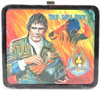 VTG The Fall Guy Metal Lunch Box by Aladdin 1981