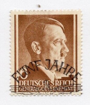 German Occupation of Poland 1941 Hitler Early Issue Fine Used 6gr. 297124
