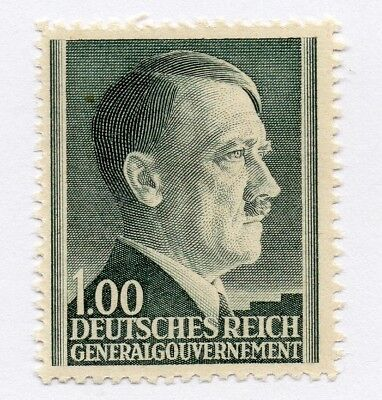 German Occupation of Poland 1941 Hitler Early Issue Fine Mint Hinged 1z. 297162