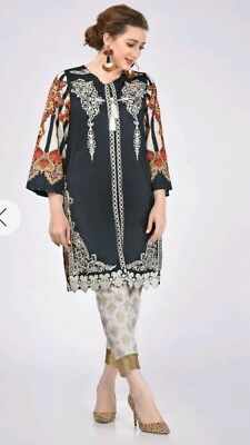 NEW! Stunning embroidered ETHNIC OUTFITTERS BOUTIQUE kurta M 10 12 khaadi sana