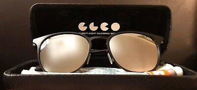 "280b7646ca Garrett Leight NEW ""Kinney"" Mirrored Black 52MM BLGL Gunmetal Sunglasses  Frame"