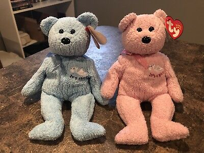 TY Beanie Babies Its a Boy Baby Boy and It's a Girl Baby Girl Bears with Tags
