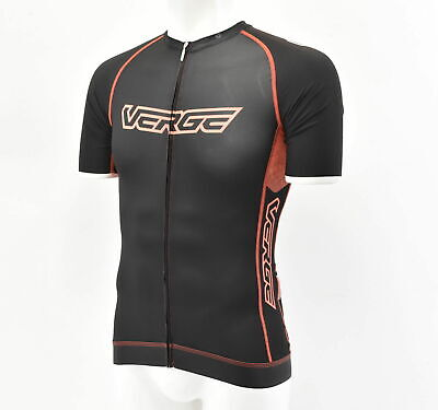 Verge Women s Tor+Fl Short Sleeve Cycling Jersey Black Orange XS New with  Tags 18047ba0a
