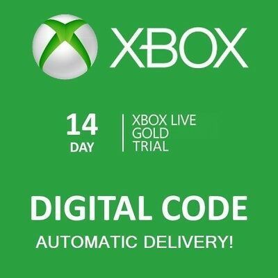 14 DAY XBOX LIVE GOLD MEMBERSHIP TRIAL - Microsoft Xbox One/ 360 -- INSTANT