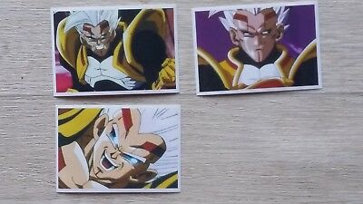 *** Rare lot n° 3  DRAGON BALL GT premium Mega Stickers panini collection 2001