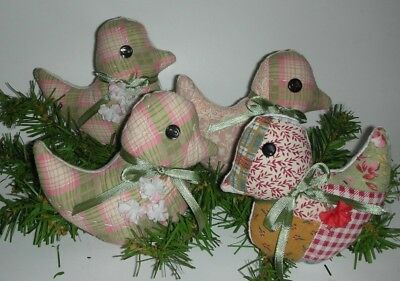 Primitive Bunny Chicks Quilted Bowl Fillers, Tucks, Ornies, Spring Easter - 4