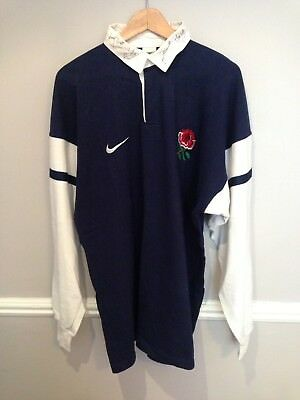 Rare Nike England Change Rugby Shirt Autographed By 8 Bath & England Legends
