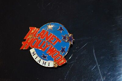 PLANET HOLLYWOOD Miami Advertising Pin Metal Great Colors